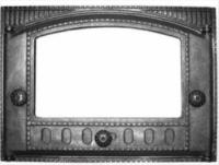Дверка каминная крашеная со стеклом ДК-2С
