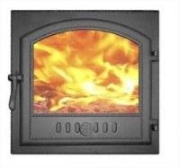 Дверка каминная герм. крашеная со стеклом ДКГ-8С
