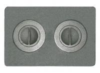Плита с двумя отверстиями для конфорок П2-7