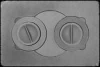 Плита с двумя отверстиями для конфорок П2-7В