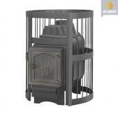 Банная чугунная печь Везувий легенда стандарт 16 дт-4