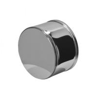 Заглушка внешняя для трубы Ф115 (нерж 0,5мм) нижняя