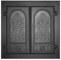 Дверка каминная двухстворчатая крашеная ДК-6