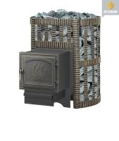 Банная чугунная печь Везувий: легенда 12 ковка дверка 261