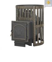 Банная чугунная печь Везувий: легенда 22 ковка дверка 271