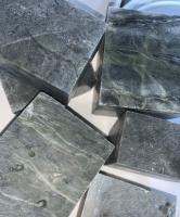 Камень нефрит кубиками
