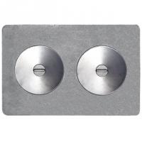 """Плита  с двумя отверстиями для конфорок П2-7А (Серия """"Универсал"""")"""